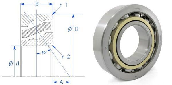Enduro  7316 BMUGL P6 angular contact bearing SKF 7316 BECBM or FAG 7316 BMPUA