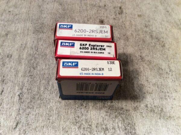 3-SKF Bearing #6200-2RSJEM,30 day warranty, free shipping lower 48!