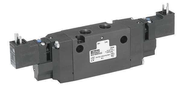 PARKER B350BB549C Solenoid Air Control Valve,1/8 In,24VDC