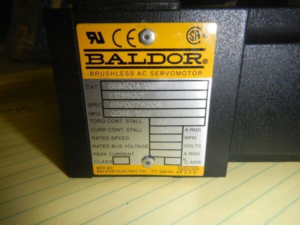 BALDOR AC SERVO MOTOR BSM50A-133AA WITH PARKER 081-9382G POSITIONING TABLE