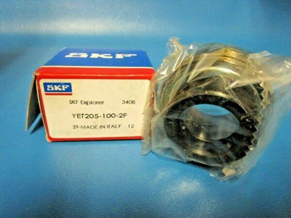SKF YET 205-100-2F, Ball Bearing Insert w Collar (=GRA100NPPB, RA100RB, VE116)