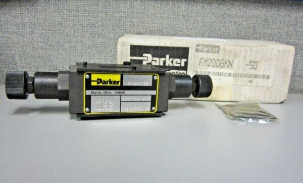 Parker FM2DDGKN-50 Dual Hydraulic Flow Control Valve (5000 PSI Max)
