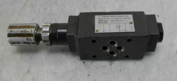 Daikin Throttle & Check Valve, MT-02A-50-T, Used, WARRANTY