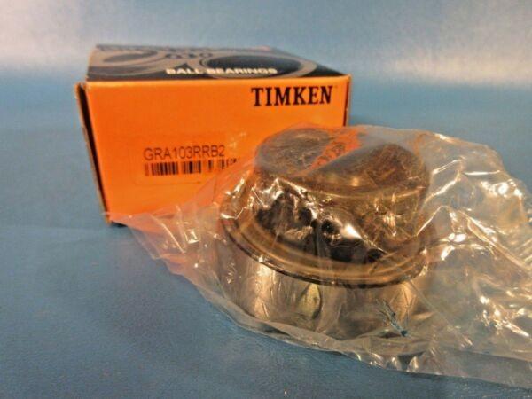 Timken GRA103RRB2 Wide Inner Ring Ball Bearing Insert, Locking Collar (Fafnir)