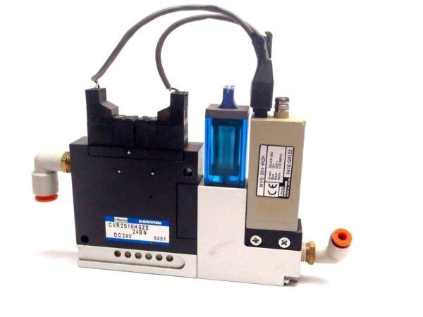 Parker Convum MVS-201-PCP G0122 Vacuum Generator Valve CVR2S10HS06E 24BN 0401