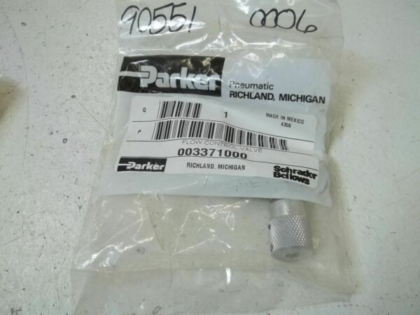 PARKER 003371000 FLOW CONTROL VALVE *NEW IN A FACTORY BAG*
