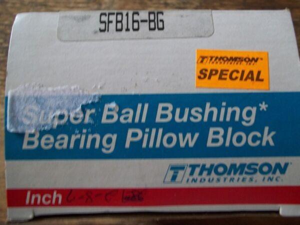 THOMSON SFB16-BG LINEAR BEARING / PILLOW BLOCK / CLOSED END / 1