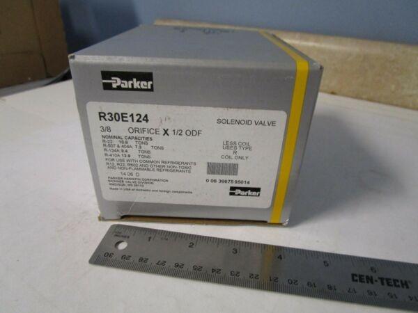 Parker R30E124 Solenoid Valve, Less Coil, 1/2