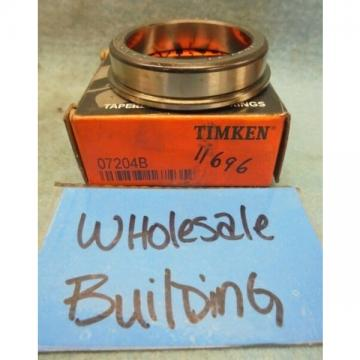 """TIMKEN 07204B TAPERED ROLLER BEARING FLANGED CUP/RACE, 2.1990"""" OD, 0.500"""" W"""