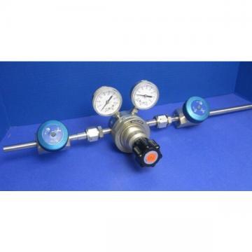 Veriflo Gas Stick Assy w/ 43800003 Regulator, 43700479 High Flow Valves, Gauges